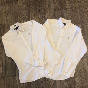 Ralph Lauren 2 Boys Cotton Oxford Shirts 6/16